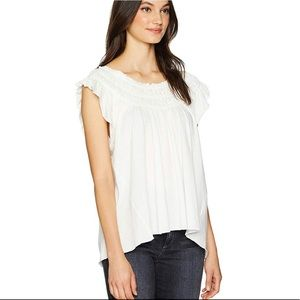🌸 We the Free by Free People Coconut Gathered Top